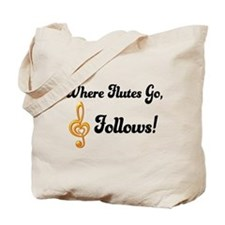 Flutes Go Treble Follows Tote Bag