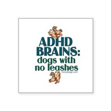 "Cute Funny adhd Square Sticker 3"" x 3"""