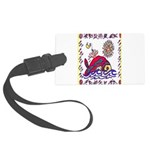 white whale Large Luggage Tag