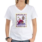 white whale Women's V-Neck T-Shirt