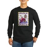 white whale Long Sleeve Dark T-Shirt