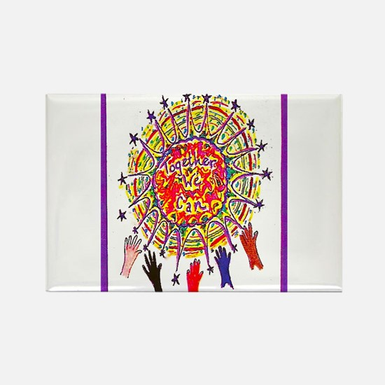 Together We Can Rectangle Magnet (10 pack)