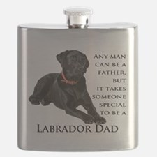 Black Lab Dad Flask