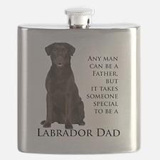 Chocolate Lab Dad Flask