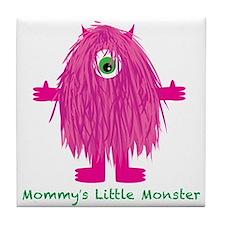 Mommys Little Pink Monster Tile Coaster