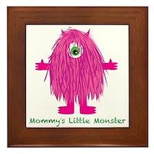 Mommys Little Pink Monster Framed Tile