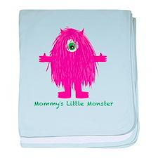 Mommys Little Pink Monster baby blanket