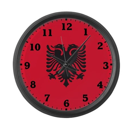 Albania Large Wall Clock