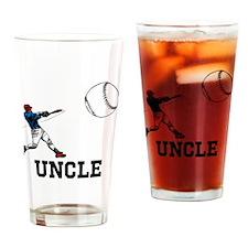 Uncle, Baseball Design. Drinking Glass