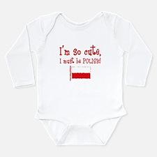 So Cute Polish Long Sleeve Infant Bodysuit