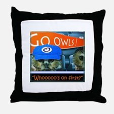 Whos on first Throw Pillow