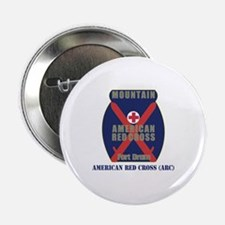 """American Red Cross (ARC) with Text 2.25"""" Button"""