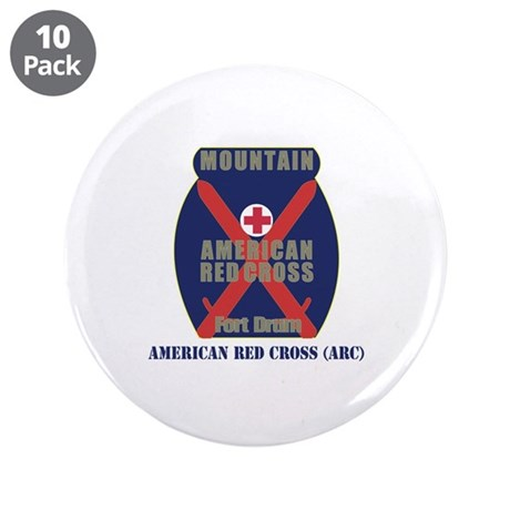 "American Red Cross (ARC) with Text 3.5"" Button (10"