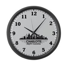 Charlotte Skyline Large Wall Clock