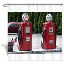 OLD GLORY GAS PUMPS™ Shower Curtain