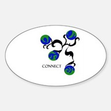 Connect Oval Decal