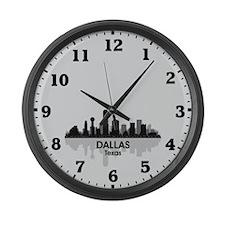 Dallas Skyline Large Wall Clock
