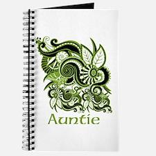 Auntie, Green Swirl Design. Journal