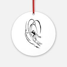 Cool Surfer Art Ornament (Round)