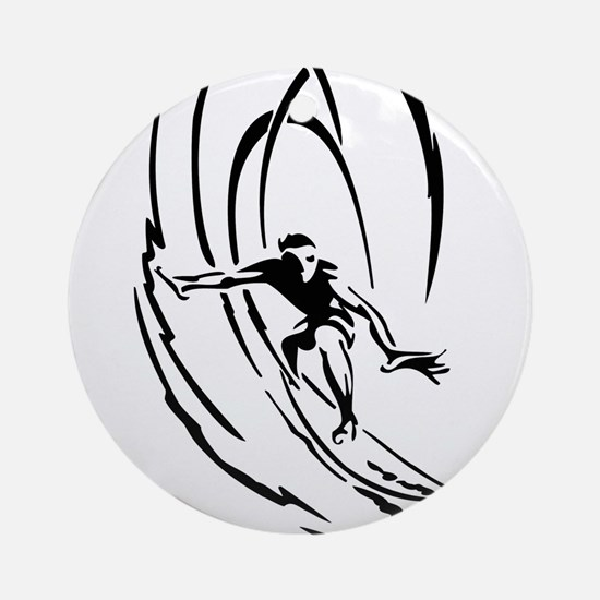 Cool Surfer Art Ornament (Round)