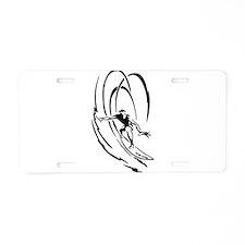 Cool Surfer Art Aluminum License Plate