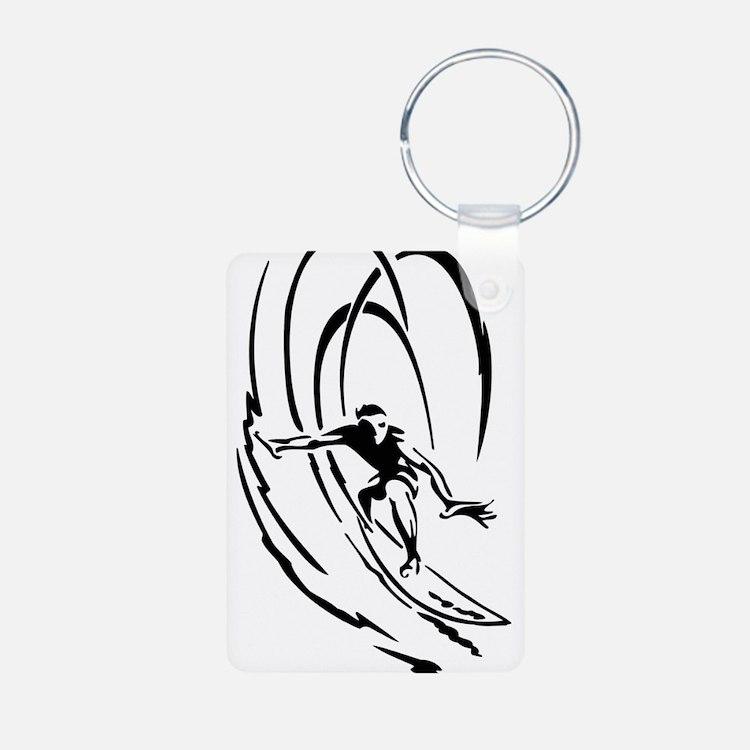 Cool Surfer Art Keychains
