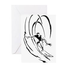Cool Surfer Art Greeting Card