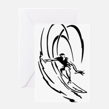 Cool Surfer Art Greeting Card