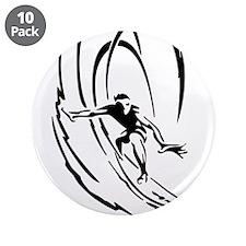 """Cool Surfer Art 3.5"""" Button (10 pack)"""