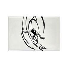 Cool Surfer Art Rectangle Magnet