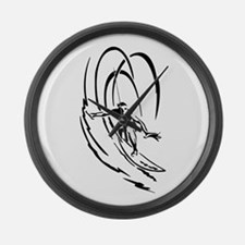 Cool Surfer Art Large Wall Clock