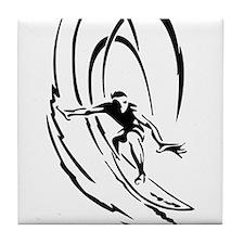 Cool Surfer Art Tile Coaster