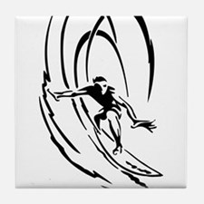 Cool Surfer Art Tile Coaster