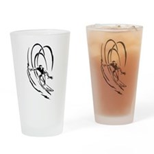 Cool Surfer Art Drinking Glass