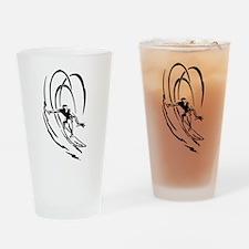 Cool Surfer Art Drinking Glass