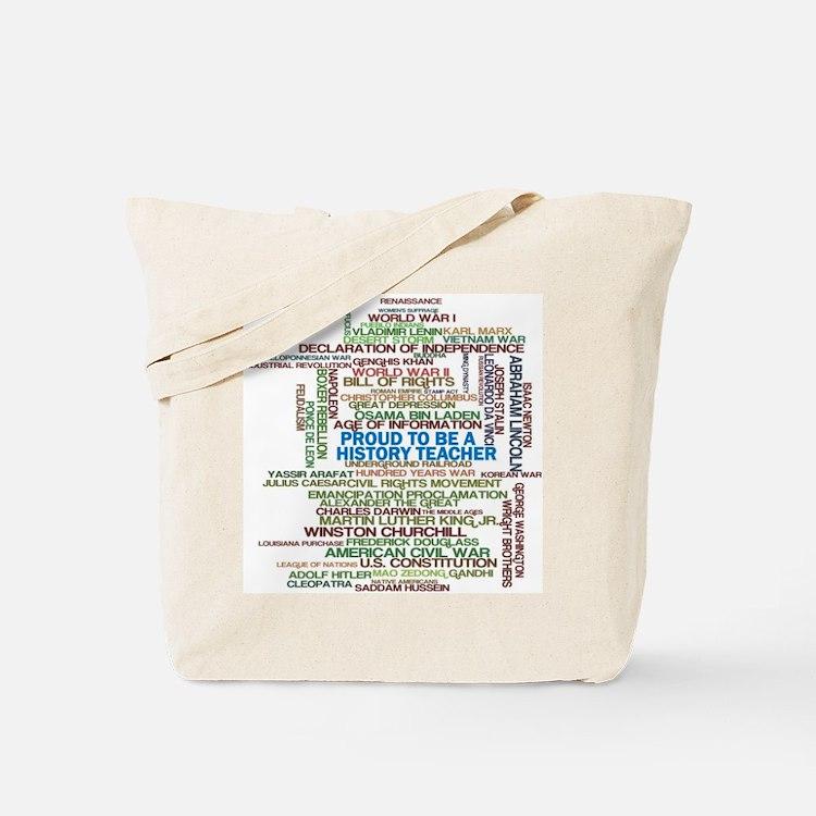 Proud History Teacher Tote Bag