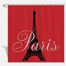 Paris (rouge) Shower Curtain