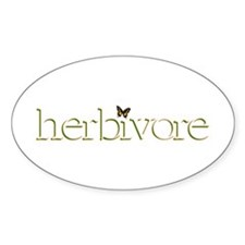 Herbivore Butterfly Oval Decal