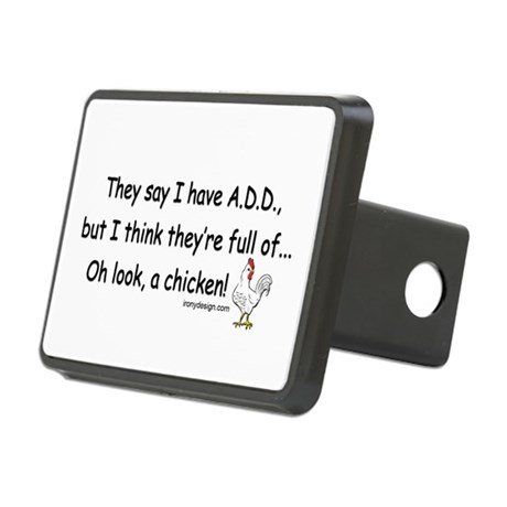 ADD full of Chicken Humor Rectangular Hitch Cover