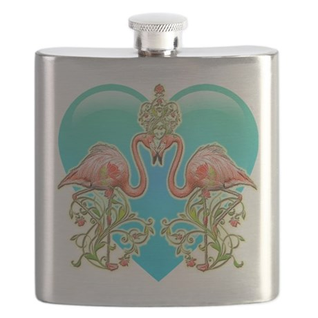 Flamingo Love Flask