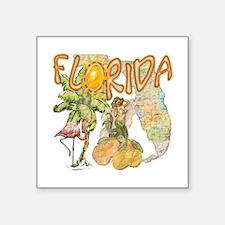 """Florida Square Sticker 3"""" x 3"""""""