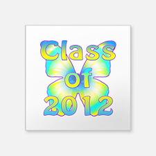 "Class of 2012 Square Sticker 3"" x 3"""