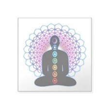 "Chakras Square Sticker 3"" x 3"""