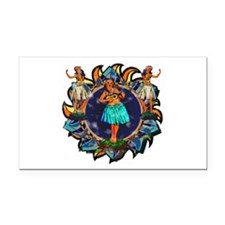 Heavenly Hulas Rectangle Car Magnet