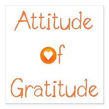 """Attitude of Gratitude Square Car Magnet 3"""" x 3"""""""