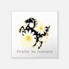 "Frolic in Nature Square Sticker 3"" x 3"""