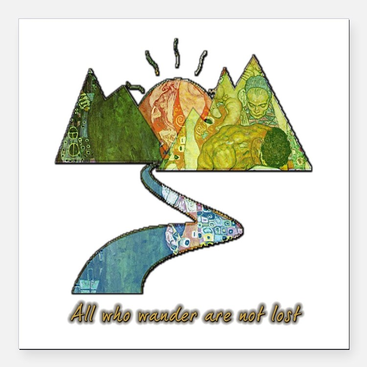 "Wander Square Car Magnet 3"" x 3"""