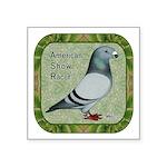 """Show Racer Portrait Square Sticker 3"""" x 3&quo"""