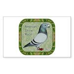Show Racer Portrait Sticker (Rectangle 50 pk)