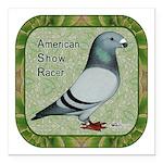 """Show Racer Portrait Square Car Magnet 3"""" x 3&"""